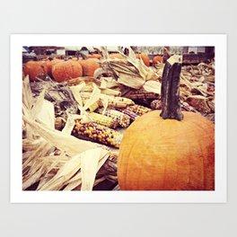 Pumpkins V Art Print