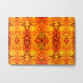 Living Passion Abstract Bliss By Omashte Metal Print