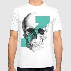 skull7 MEDIUM Mens Fitted Tee White