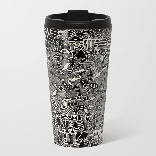 - blackout - Metal Travel Mug