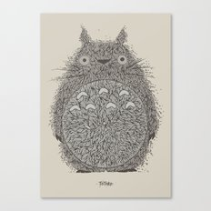 Cream Totoro Canvas Print