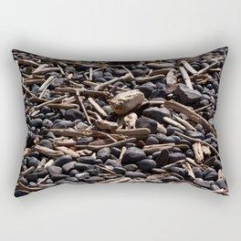 Yaquina Head Rocks and Driftwood Rectangular Pillow