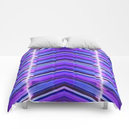 Line Me Up - Ultra Violet Minimal Geometric Abstract Comforters