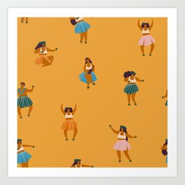 Hula party Art Print