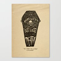 lyrics Canvas Prints featuring Lyrics & Type by Jon Contino