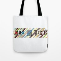 amy pond Tote Bags featuring Amy Pond by colleencunha