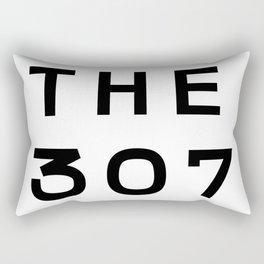 307 Wyoming Area Code Typography Rectangular Pillow