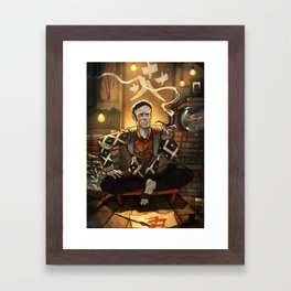 Alan Watts in his Boat House Framed Art Print
