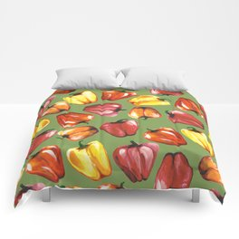 Bell Peppers Pattern Comforters