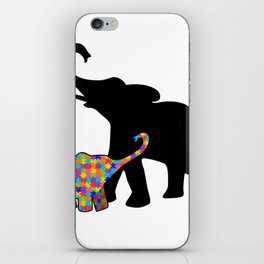 Elephant Autism Awareness Support iPhone Skin