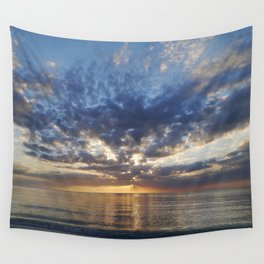 Sunset Over Clearwater Beach Wall Tapestry