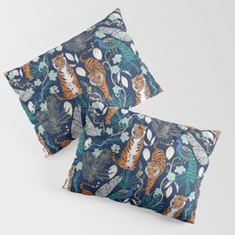 Tiger Toile on Navy Pillow Sham