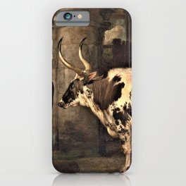 James Ward - ortraits of two extraordinary oxen, the property of the Earl of Powis iPhone Case