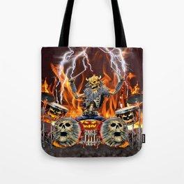 HEAVY METAL ZOMBIE DRUMMER Tote Bag