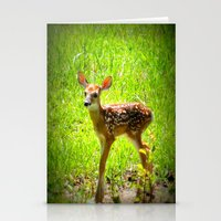 fawn Stationery Cards featuring FAWN by 2sweet4words Designs
