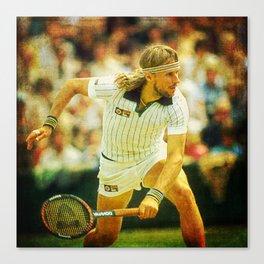 Bjorn Borg Tennis Canvas Print