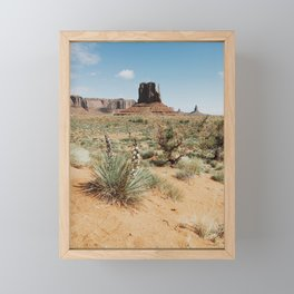 Blooming Southwest Desert Yucca Framed Mini Art Print