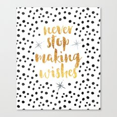 Making Wishes Quote Canvas Print