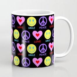 Peace Love Smile Pattern Coffee Mug