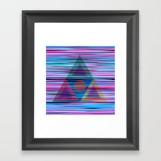Lines and triangles Framed Art Print