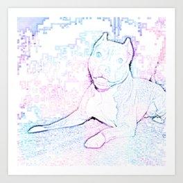 Girly Pitty Art Print