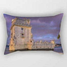 Torre de Belem, Lisbon, at dusk Rectangular Pillow