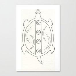 Hopi Design Turtle Canvas Print