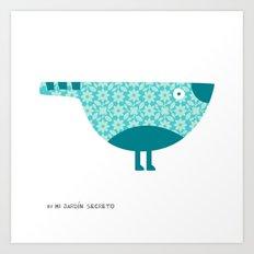 KOKORO (blue) Art Print