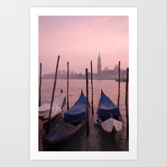 Venetian sunset Art Print