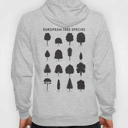 Infographic Guide for Tree Species by Shapes or Silhouette Hoody