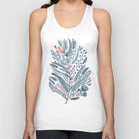 leaf Tank Tops featuring Turning Over A New Leaf by Monica Gifford