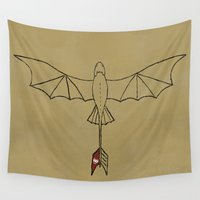 toothless Wall Tapestries featuring Toothless by Jozi