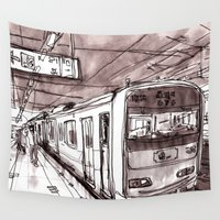 subway Wall Tapestries featuring Subway by Jonas Ericson