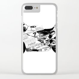 Motorcycle black and white, original race motorcycle Clear iPhone Case