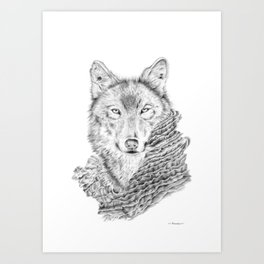 Dream about a Wolf Art Print