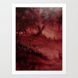 The Red Wood Art Print