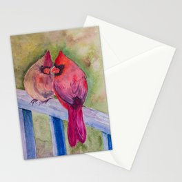 Cardinals in Love Stationery Cards
