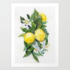 lemon tee Art Print
