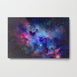 Blue Galaxy Metal Print