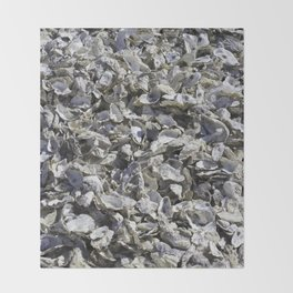 Shucked Oyster Shells Throw Blanket