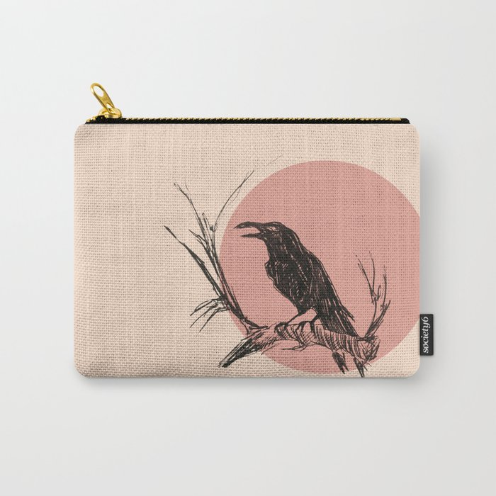 Crow edit version 3 Carry-All Pouch