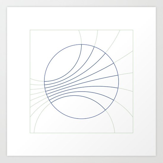#300 Gravity field – Geometry Daily Art Print