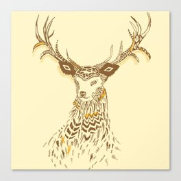 Tribal Deer Canvas Print