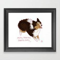 shetland sheepdog Framed Art Print