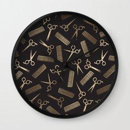 Scissors & Combs Wall Clock