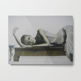 vermilion Metal Print