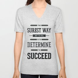 Lab No. 4 The Surest Way to Richard Brinsley Sheridan Inspirational Quote Unisex V-Neck