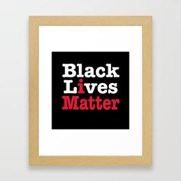 BLACK LIVES MATTER (inverse version) Framed Art Print