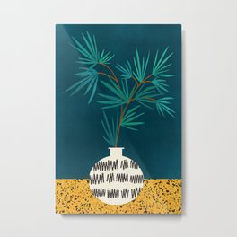Night Palm / Night Scene Series Metal Print