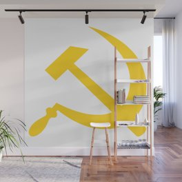 Hammer and Sickle USSR Communist Wall Mural